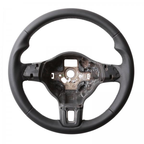 VW Lenkrad Golf 6 Caddy Tiguan Touran Daumenauflage Kombibezug Naht schwarz