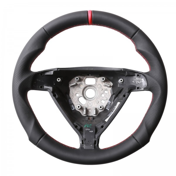 Lenkrad Porsche Tuning 911 997 Boxster Cayman 987 12Uhr Markierung Rot Kombibezug Naht Rot