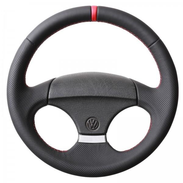 VW Lenkrad Golf 1 Golf 2 12Uhr Markierung rot Naht rot