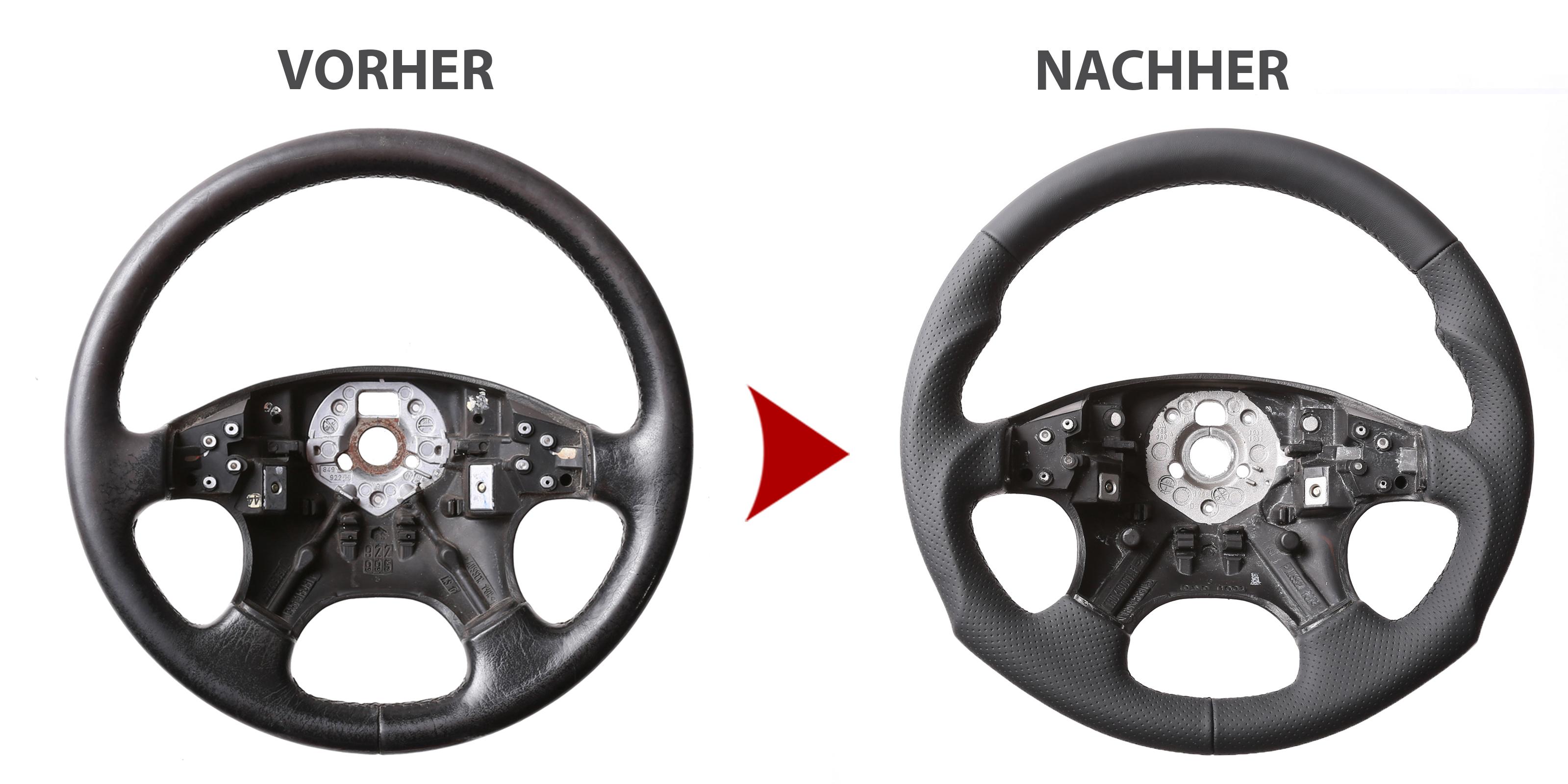 VW Lenkrad Golf 3 Passat 35i Neu Beziehen Nappa Leder