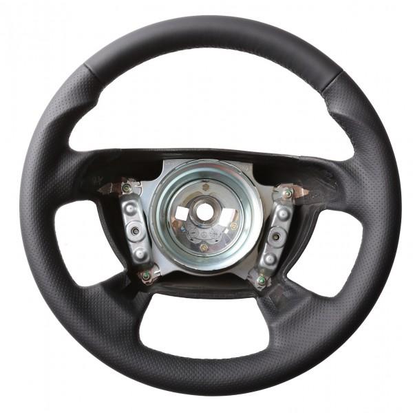 Mercedes Lenkrad CLK W208 SLK R170 SL R129 W202 Daumenauflagen Kombibezug Naht schwarz