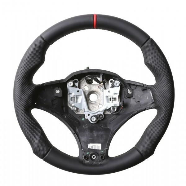 BMW Lenkrad E83 X3 E53 X5 M Sport Tuning Kombibezug 12Uhr Markierung rot Naht schwarz