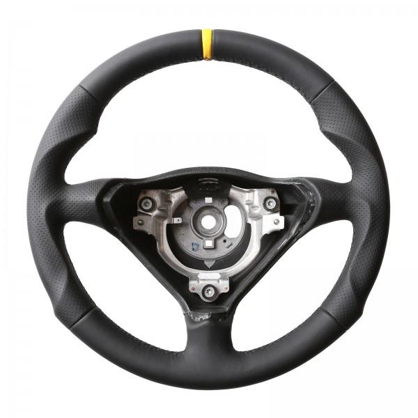 Porsche Lenkrad 911 993 996 986 Boxster Sport Tuning Kombibezug 12Uhr gelb Naht schwarz