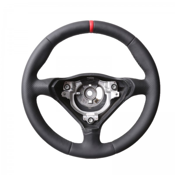Porsche 911 993 996 986 Boxster inkl. Moosgummi Kombibezug 12Uhr rot, Naht schwarz