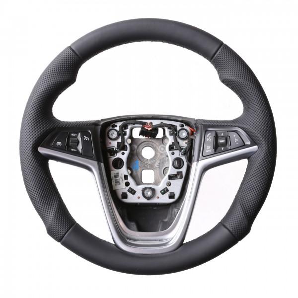 Opel Lenkrad Astra J Zafira C Insignia A Cascada Meriva Mokka Tuning Kombibezug Naht schwarz