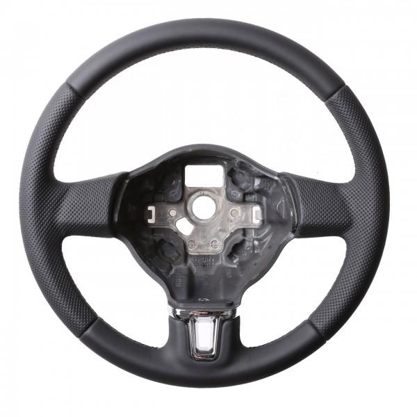 VW Lenkrad Golf 6 Caddy Tiguan Touran T5 Passat 3C Kombibezug Naht schwarz