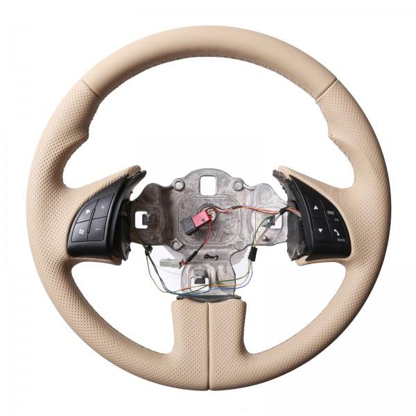 Fiat Lenkrad 500 Daumenauflagen beige Kombibezug Naht beige
