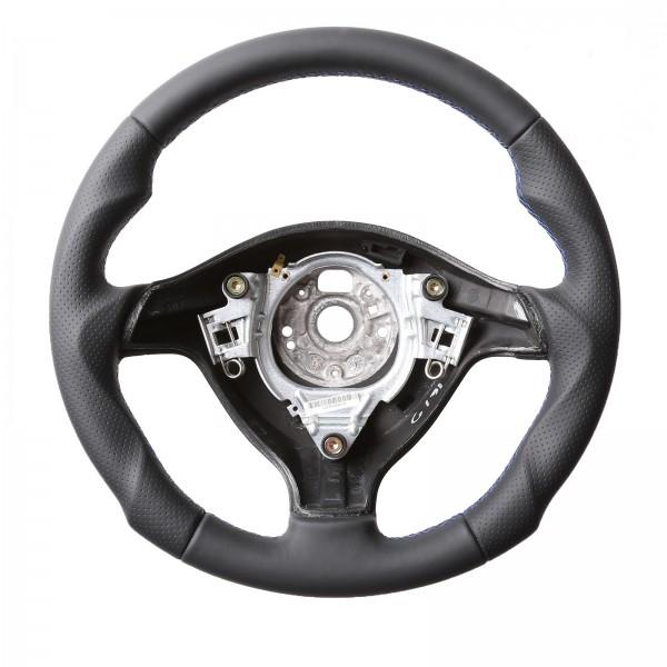VW Lenkrad Golf 4 Passat 3B 3BG Seat Leon Tuning Kombibezug Naht blau