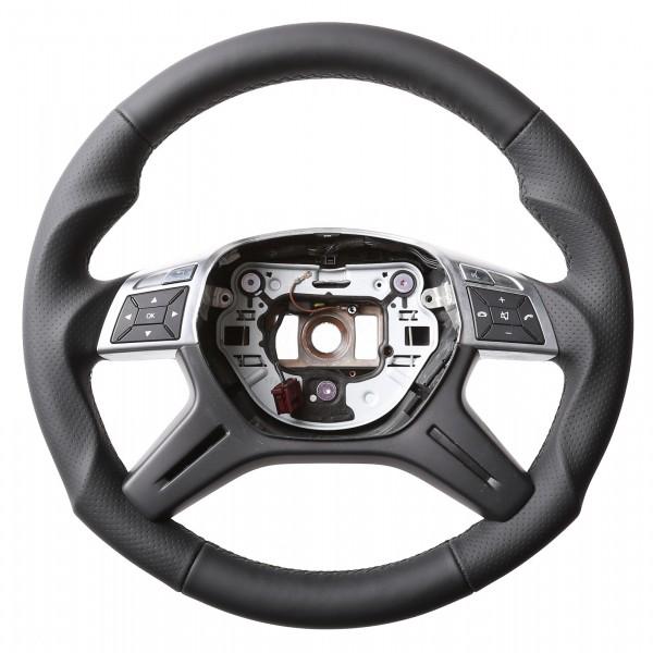 Mercedes Lenkrad W204 C Klasse W166 ML GL Tuning Kombibezug Naht schwarz