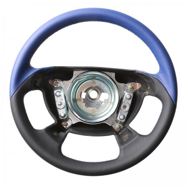 Mercedes Lenkrad CLK W208 SLK R170 Cabrio Bicolor blau nur Nappa Naht blau