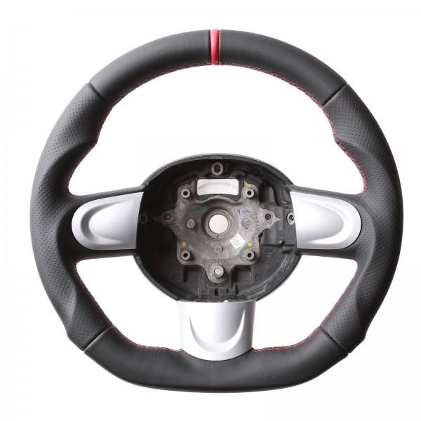Mini Lenkrad One Cabrio R 55 56 57 58 59 60 61 Abgeflacht 12Uhr Markierung rot Naht rot