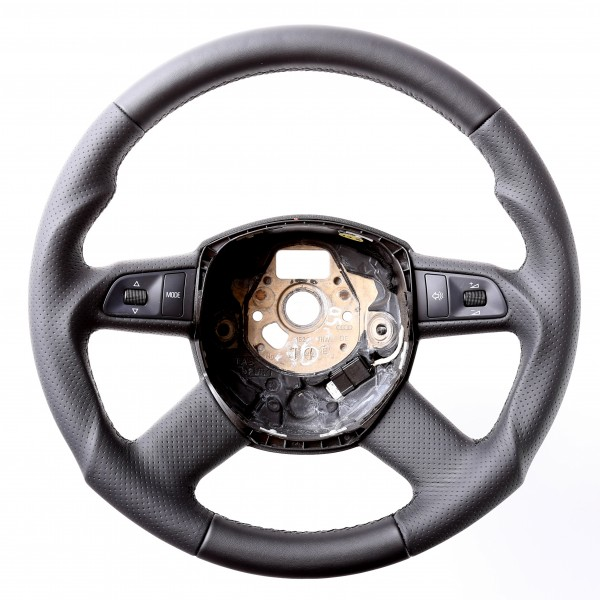 Audi Lenkrad A8 Q5 Q7 Tuning Kombibezug Naht schwarz
