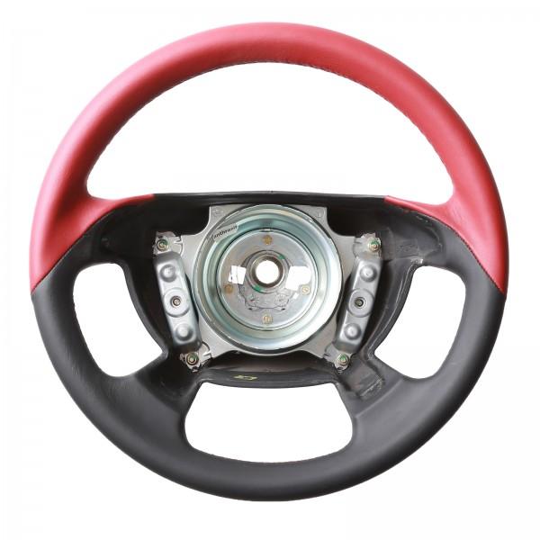 Mercedes Lenkrad CLK W208 SLK R170 Cabrio Bicolor Rot/Schwarz Klassisch nur Nappa Naht rot