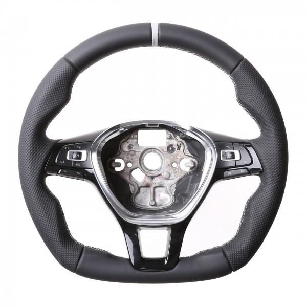 VW Lenkrad Golf 7 Passat B8 T6 Amarok Arteon Caddy Touareg T-Roc Abgeflacht NEU 12 Uhr Markierung