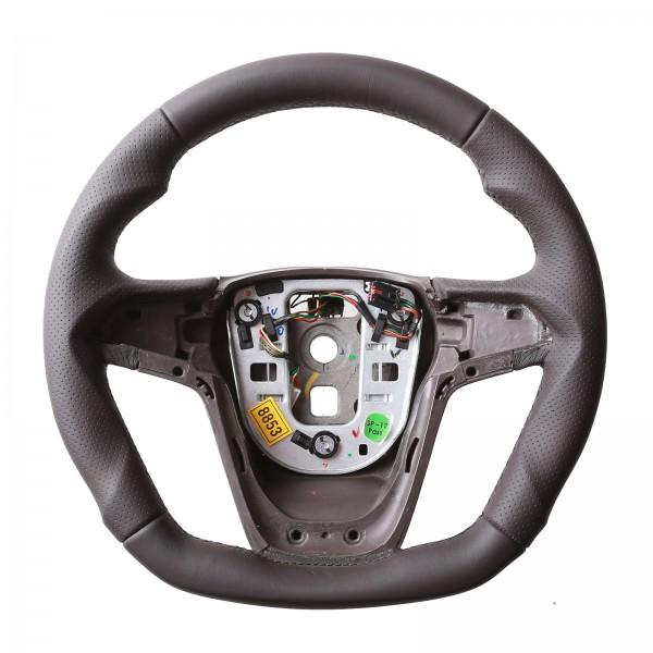 Lenkrad Opel Astra J Zafira C Insignia Braun Abgeflacht Kombibezug Naht braun