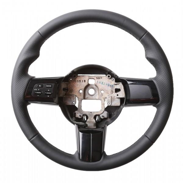 Mazda Lenkrad MX5 Daumenauflagen Kombibezug Naht schwarz