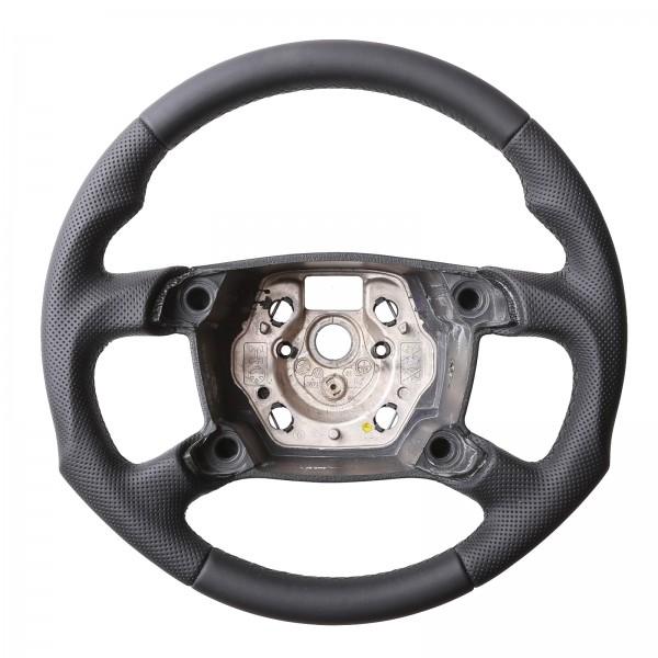 VW Lenkrad T5 Caddy Tuning Kombibezug Naht Schwarz