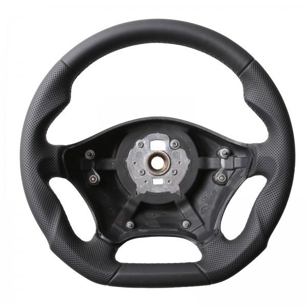 Mercedes Lenkrad W639 Vito Viano W906 Sprinter Abgeflacht Kombibezug Naht schwarz
