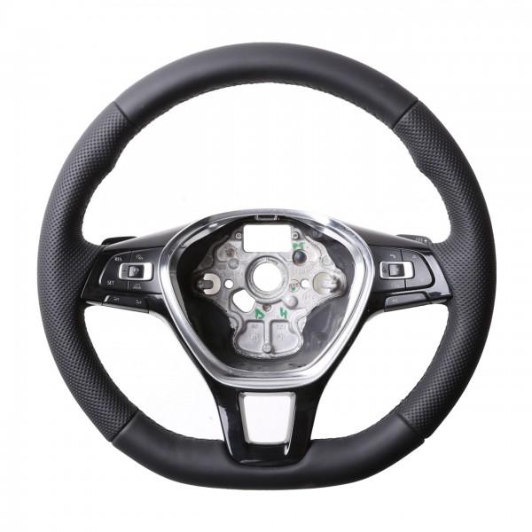 VW Lenkrad Golf 7 Passat B8 T6 Arteon Amarok Caddy Klassisch mit Moosgummi Kombibezug Naht schwarz