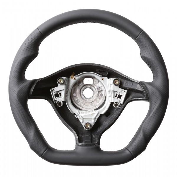 VW Lenkrad Golf 4 Passat 3B 3BG Seat Leon Tuning Abgeflacht Kombibezug Naht schwarz