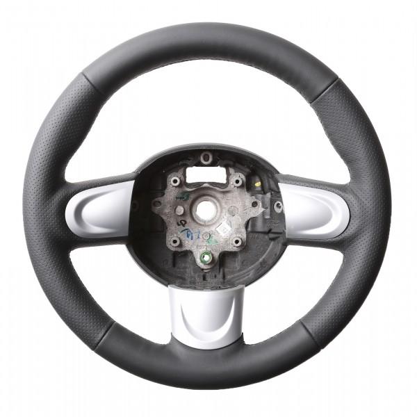 Mini Lenkrad One Mini Cooper R55 R56 R57 inkl Moosgummi Daumenauflagen Kombibezug Naht schwarz